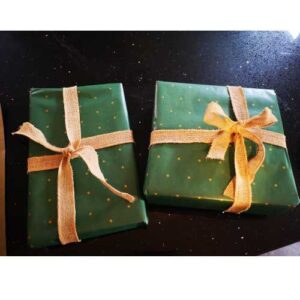 Image showing gift wrapped parcel